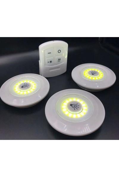Şanlı Tuning Uzaktan Kumandalı 3'lü Ufo LED Işık Sistemi Süre Ayarlı Aydınlatma
