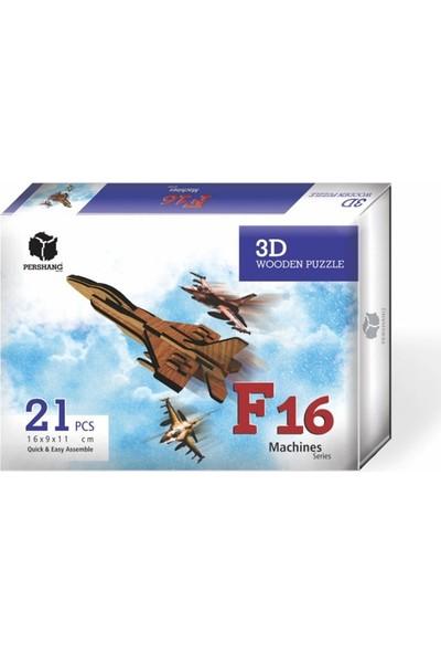 Pershang F16 Jet Uçak 3 Boyutlu Yapboz