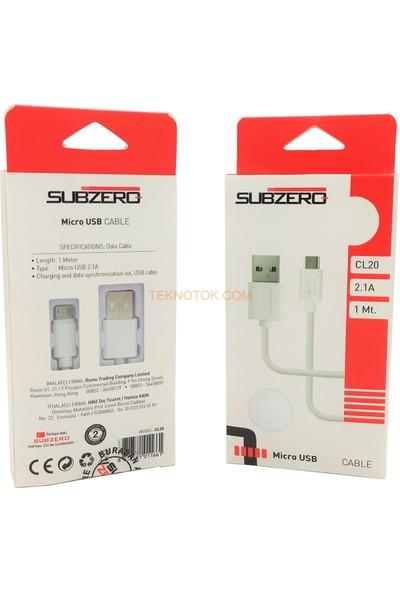 Subzero CL20 Micro USB Kablo Beyaz