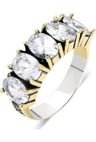 Aykat YZK-305 Otantik Zirkon Taşlı Kadın Gümüş Yüzüğü