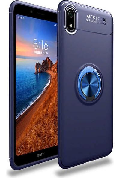 Coverzone Samsung Galaxy A01 Novel Kılıf Silikon Kılıf Siyah Mavi + Nano Glass Ekran Koruyucu