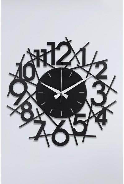 Muyika Lienal Metal Siyah Duvar Saati 41 x 41 cm
