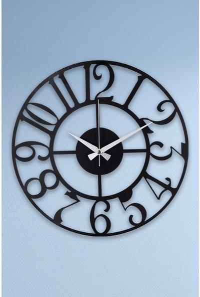Muyika Bonni Metal Siyah Duvar Saati 41 x 41 cm