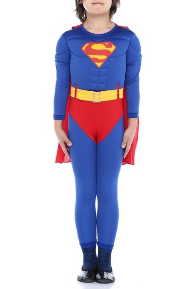 Tülü Akkoç Çocuk Kaslı Süperman Kostümü