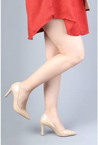 Modabuymus Ten Rugan Stiletto Topuklu Kadın Ayakkabı - Anger
