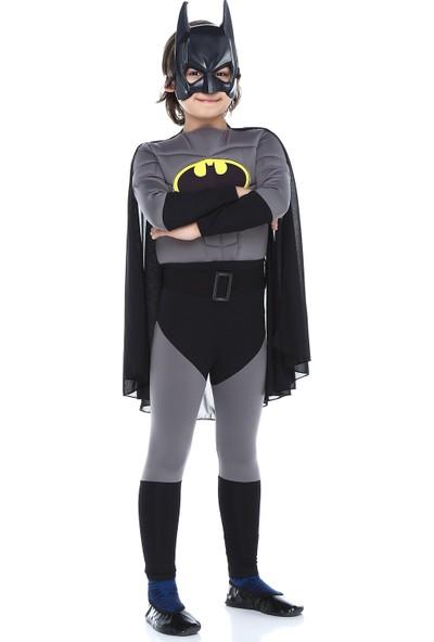 Tülü Akkoç Çocuk Kaslı Batman Kostümü