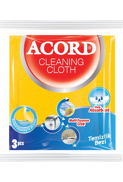 Acord 3`lü Çok Amaçlı Temizlik Bezi