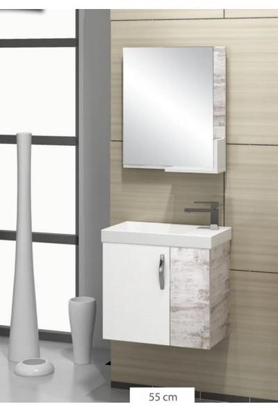 Samir Zümrüt Banyo Dolabı 55 cm
