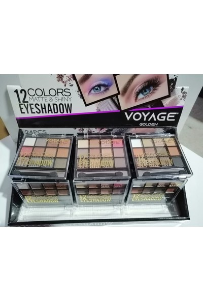 Voyage Golden 12 Color Eyeshadow Göz Farı