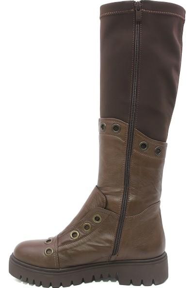 Letoon Kgz Kadın Çizme - Kahverengi 36