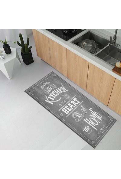 Decovilla Renkli Mutfak Halısı Kaymaz Yıkanabılır Modern Kıtchen Halı 60 x 200 cm