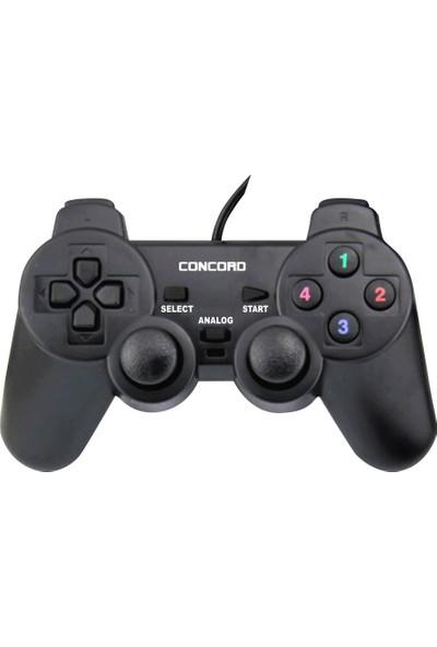 Concord C-850 Bilgisayar PC Oyun Konsol Gamepad Kolu Titreşimli