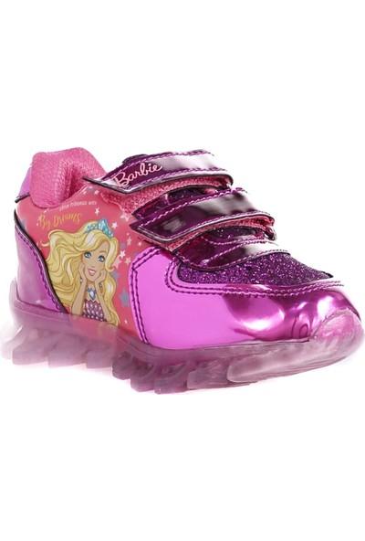 Barbie Kız Çocuk Işıklı Fuşya Spor Ayakkabı