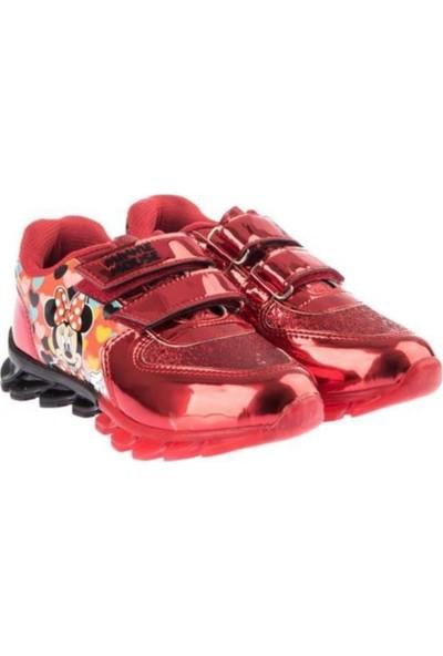 Mickey Mouse Kız Çocuk Işıklı Kırmızı Spor Ayakkabı