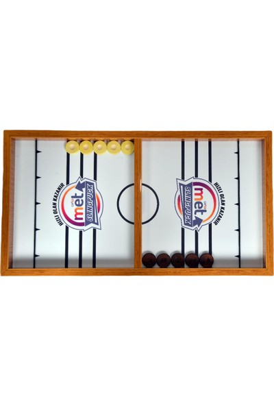 Met Çarşı Slingpuck Hızlı Sapan Oyunu - Sling Puck Bambu