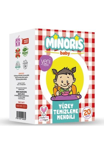 Minoris Baby Organik Yüzey Temizleme Mendili Tek Paketli 20 Adet