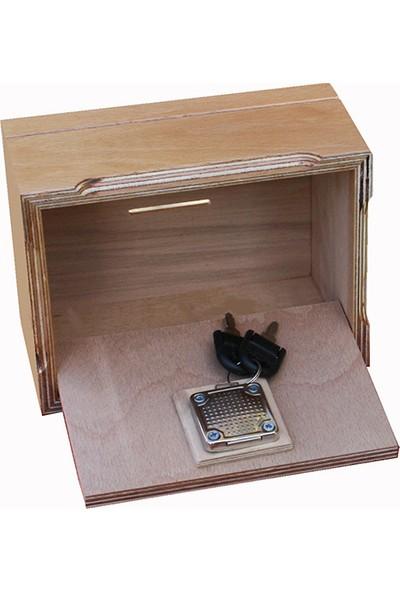 Ahşapkutular Orta Boy Cilalı Tip Box Kumbara