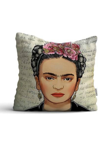 Kırlenthome Frida Kahlo Kırlent Kılıfı