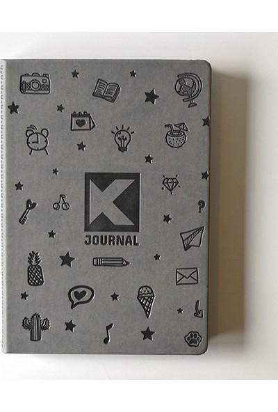 Kagito K-Journal Noktalı Defter Gri