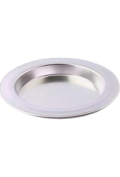 Bakır Sanatı Alüminyum 6 Adet 2 Kişilik 17 cm Künefe Tabağı