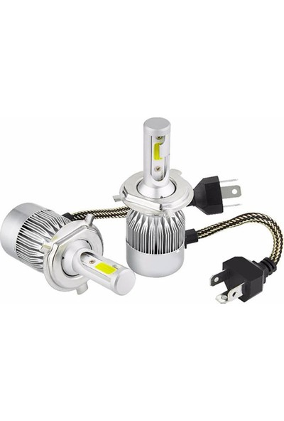 Knmaster C6 Yeni Nesil Fan Soğutmalı Şimşek Etkili H4 LED Ampul Takımı