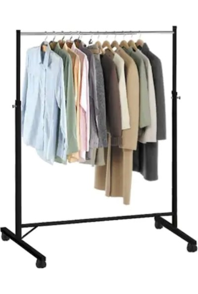 Weblonya Elbise Askısı Tekerlekli Kıyafet Askısı 6002