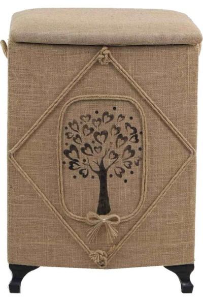 Duru Çeyiz Sandıkları Çamaşır Sepeti Ağaç Desenli