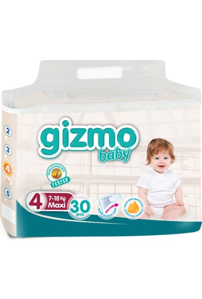 Gizmo Bebek Bezi Paketi 7 - 18 kg 4 Numara 30'lu