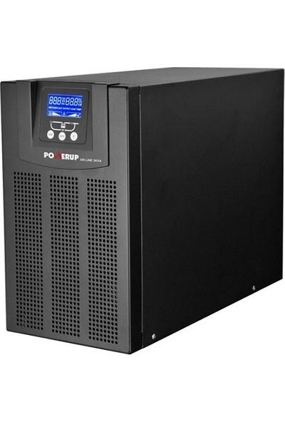 PowerUp 1 Kva Pro Serisi Online LCD UPS UPS-PMP-9101