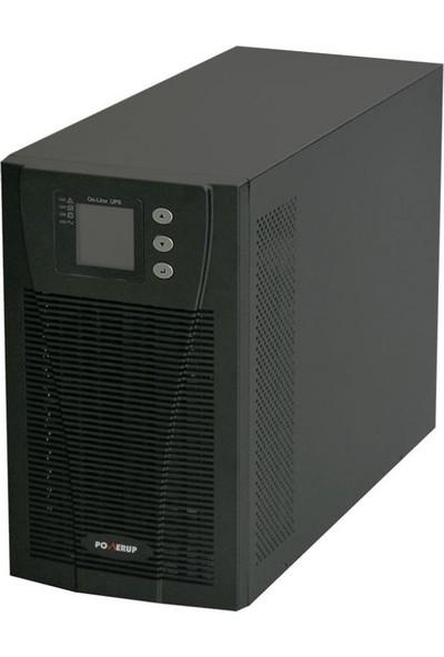 PowerUp 3 Kva Pro Serisi Online LCD UPS UPS-PMP-9103