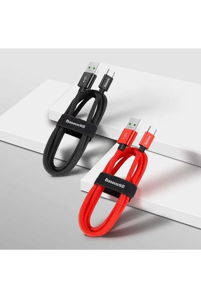 Baseus 5A Ultra Hızlı Şarj USB Şarj Kablosu Type-C 1m