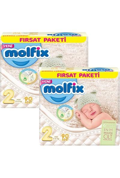 Molfix Bebek Bezi 2 Beden Mini Fırsat Paketi 90 x 2 - 180 Adet