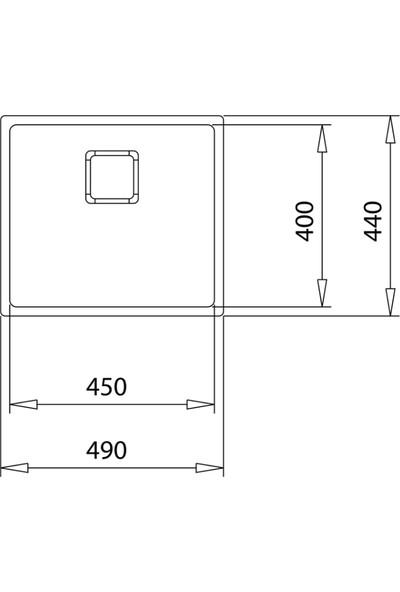Teka Flexlinea Tezgahaltı Paslanmaz Çelik Mutfak Evyesi 45 x 40 cm