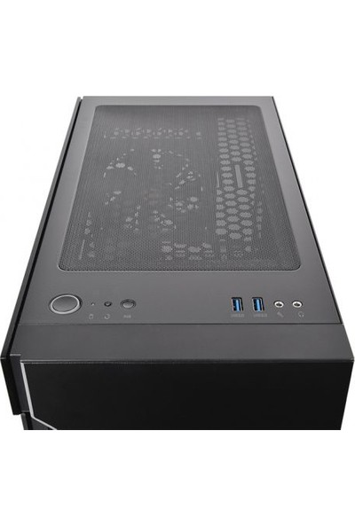 Thermaltake H200 Tempered Glass RGB Şerit Ledli Pencereli Siyah MidTower Oyuncu Kasası CA-1M3-00M1WN-00