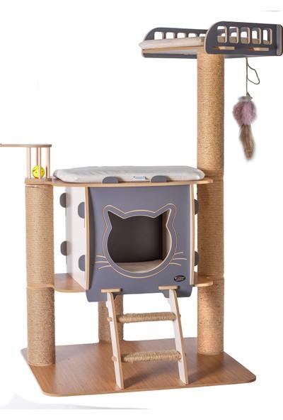 Pati Homes Vip Katlı Yataklı Tırmalamalı Kedi Evi