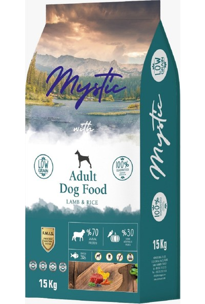 Mystic Az Tahıllı Yetişkin Köpek Maması Kuzulu 15 kg