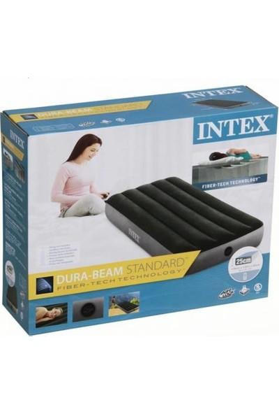 Intex Dura - Beam 64106 Tek Kişilik Şişme Yatak Yeşil - Gri