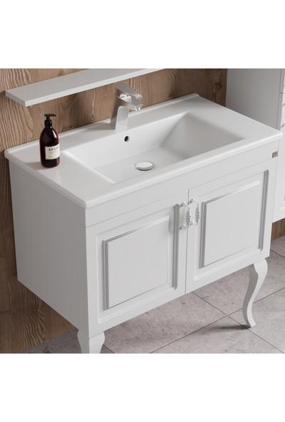 Belinza Arel Banyo Dolap Takımı Beyaz 100 cm