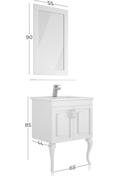 Belinza Arel Banyo Dolap Takımı Beyaz 65 cm
