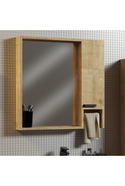 Belinza Seren Banyo Dolap Takımı Safir Meşe 65 cm