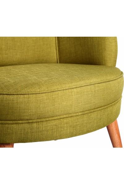 Ze10 Design Victoria Tekli Koltuk Fıstık Yeşili