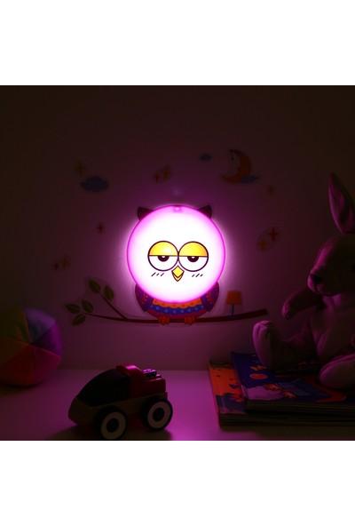 Modelight Gece Lambası Stickerlı - Baykuş Model