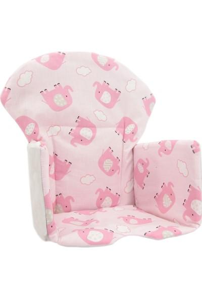 Nuvokido Mama Sandalyesi Minderi Pembe Filli