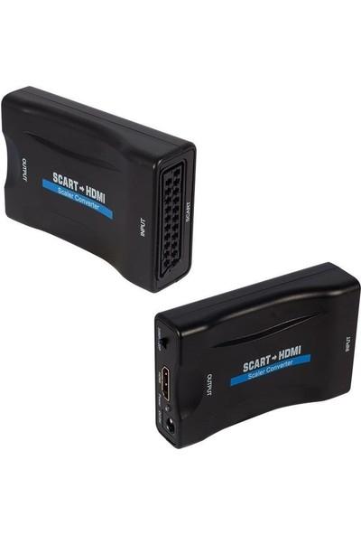 Powermaster Scart To HDMI Çevirici Adaptör
