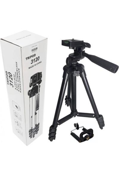 TF-3120 102 cm Cep Telefonu Fotoğraf Makinesi Tripod + Telefon Tutacağı