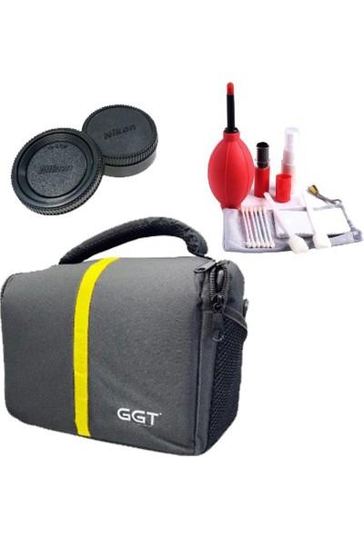 Ggt Profesyonel Fotoğraf Makinesi Çantası + 7 In 1 Temizlik Kiti + Nikon Lens Arka ve Gövde Kapağı