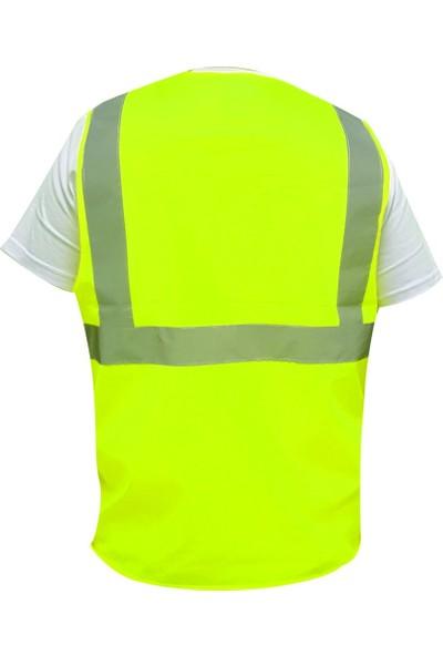 Butik İş Reflektif Mühendis İkaz Yeleği Sarı