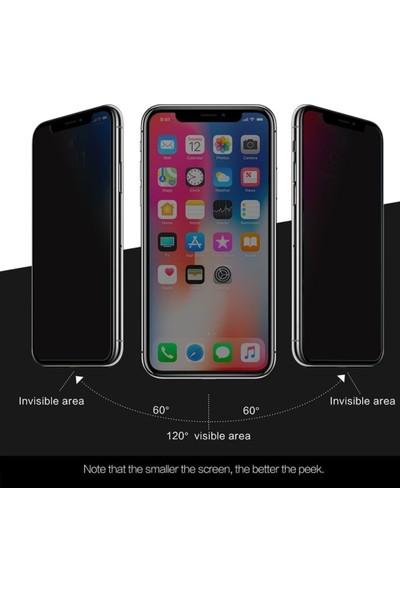 Logis Apple iPhone 7 / 8 Plus Hayalet Privacy Gizli 6d Ekran Koruyucu Cam - Beyaz