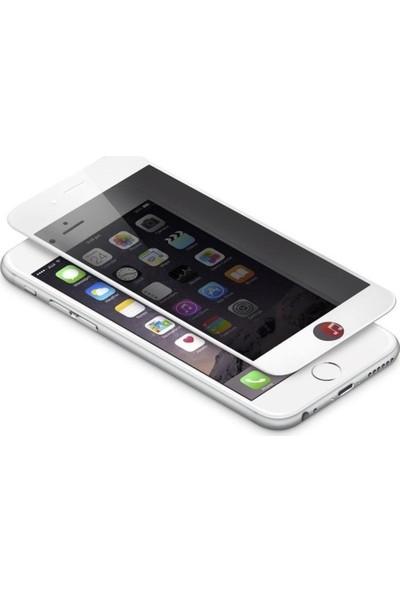 Logis Apple iPhone 7 / 8 Hayalet Privacy Gizli 6d Ekran Koruyucu Cam - Beyaz