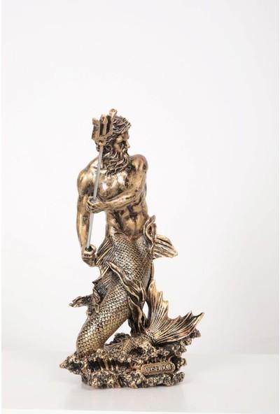 Yiğitoğlu Design Büyük Boy Gold Poseidon Heykeli